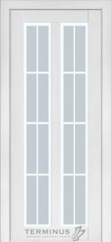 Модель-117 ПО  Ясень белый эмаль, стекло сатин №30