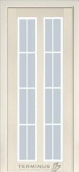 Модель-117 ПО  Ясень Crema, стекло сатин №30