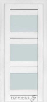 Модель-140 ПО Ясень белый эмаль, стекло сатин