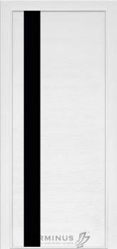Модель-021 ПГ Ясень белый эмаль, планилак черный