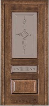 Модель-53 ПО Орех американский, остекленная (03)стекло сатин бронза №8