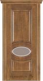 Модель-55 ПО Орех американский, остекленная (02), стекло сатин бронза №27
