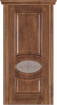 Модель-55 ПО Орех американский, остекленная (02) стекло сатин бронза №13