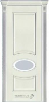 Модель-55 ПО Ясень белый эмаль, остекленная (02), стекло сатин