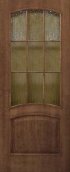 Капри ПО (Орех) со стеклом кора бронза